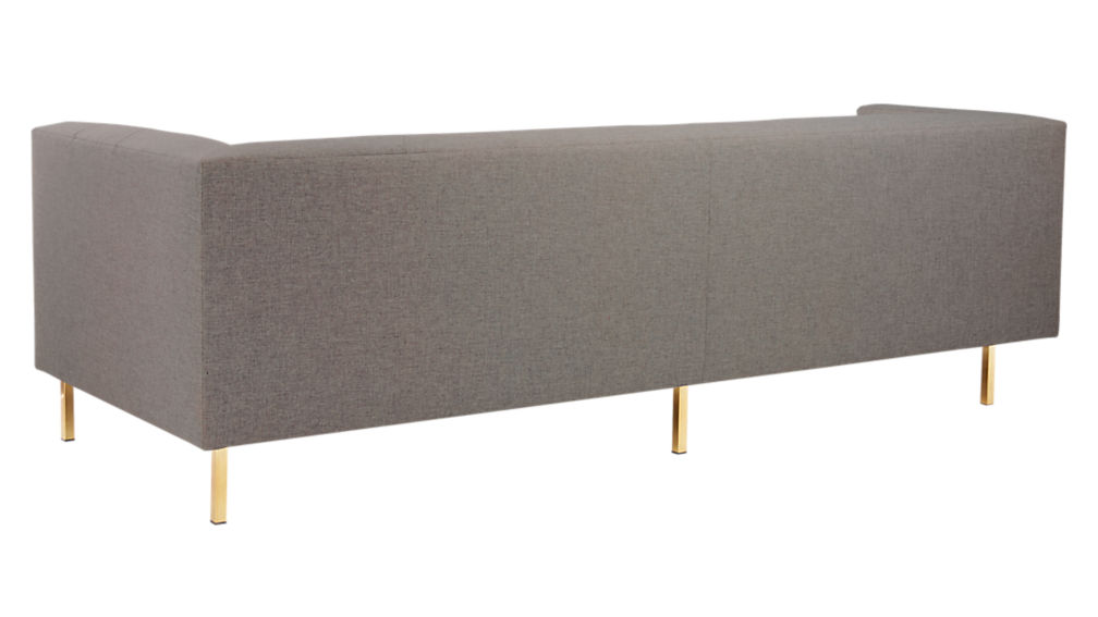 Avec Grey Left Arm Corner Sofa with Brass Legs