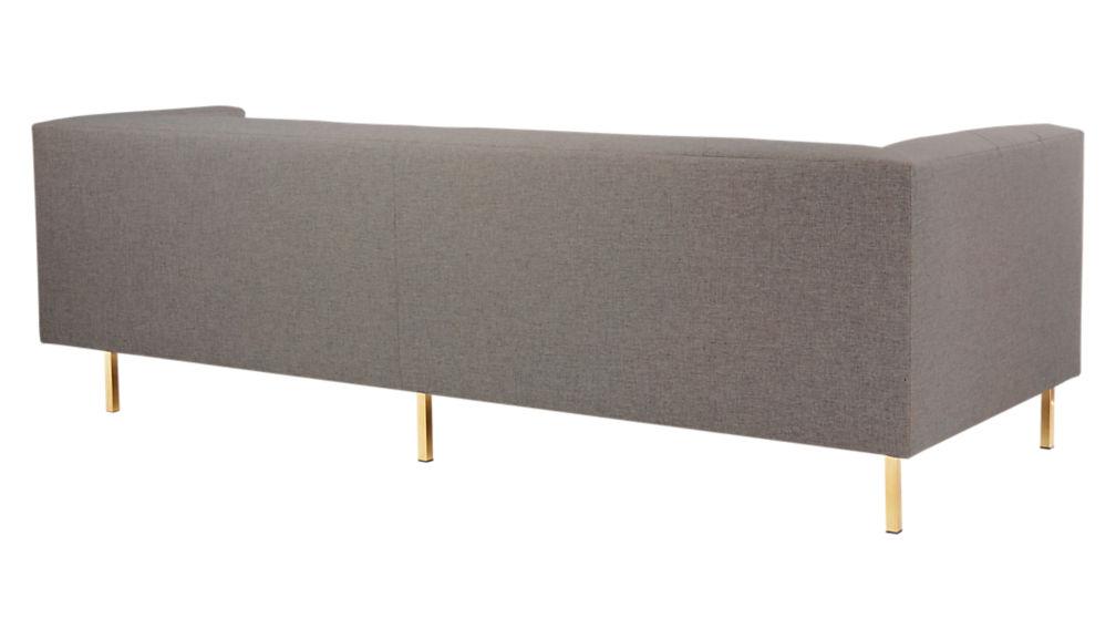 Avec Grey Right Arm Corner Sofa with Brass Legs