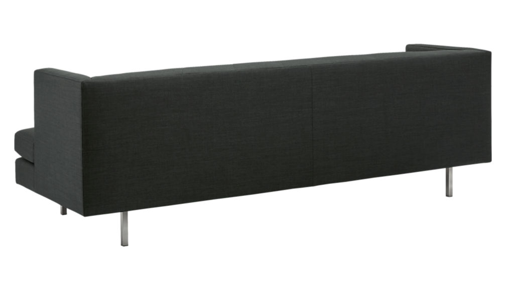 avec carbon sofa with brushed stainless steel legs