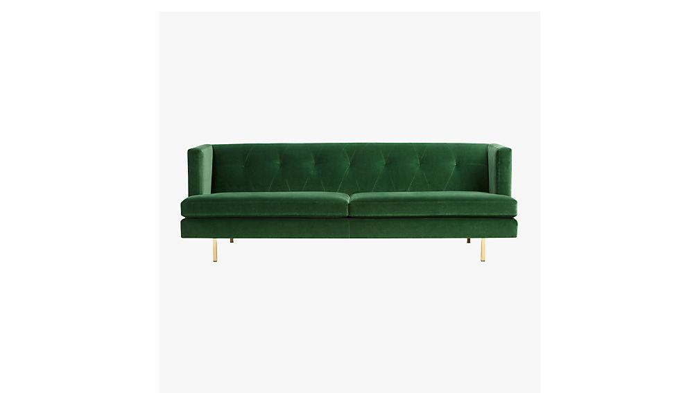avec sofa with brass legs