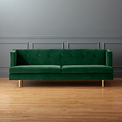 avec sofa with brass legs