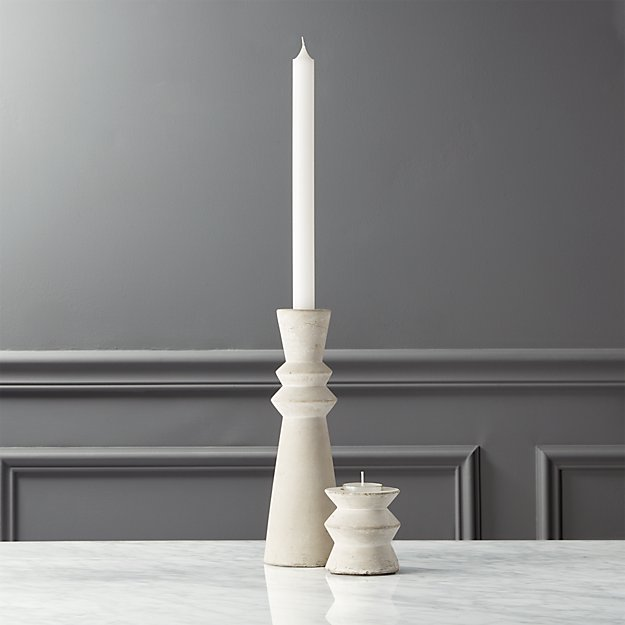 avenue cement candle holders