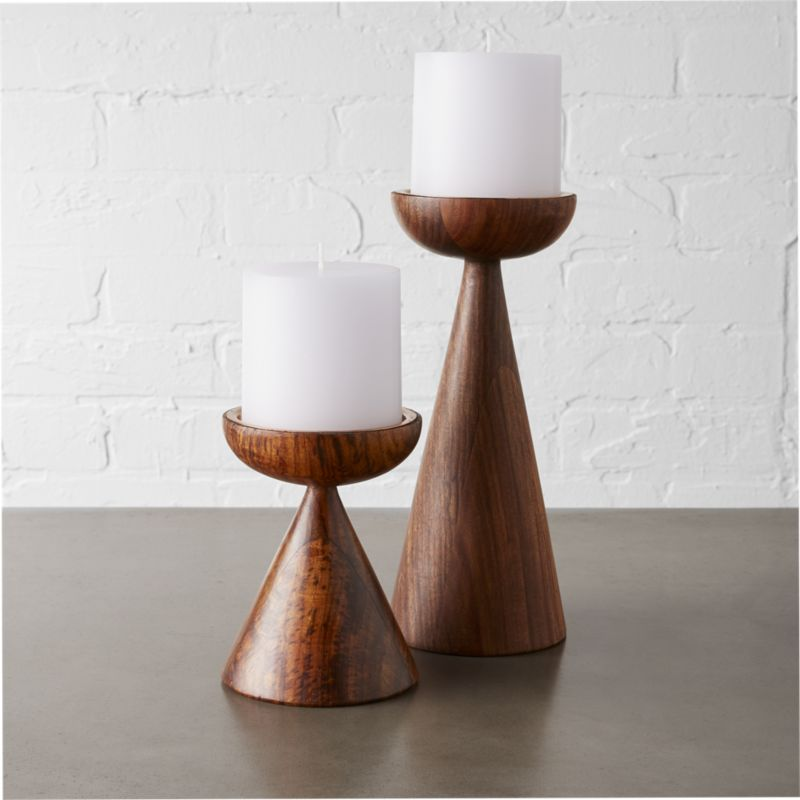 Modern candle holders and unique candles cb2 baltic pillar candle holders mozeypictures