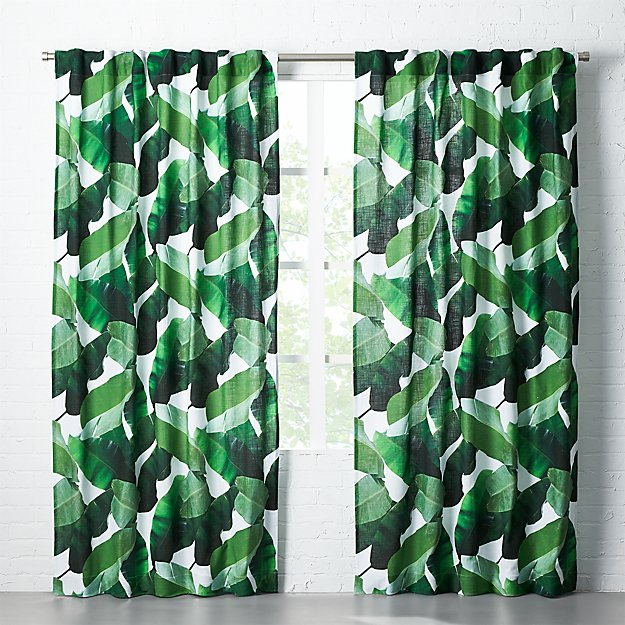 Banana Leaf Curtain Panel Cb2