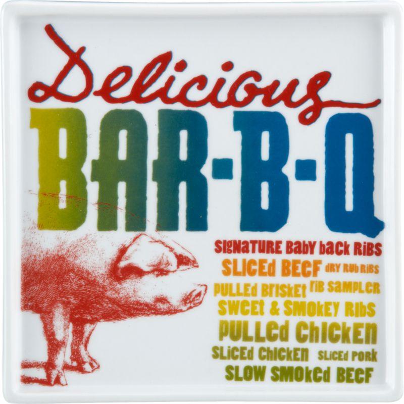 bar-b-q menu plate