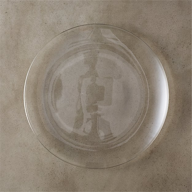bari glass dinner plate