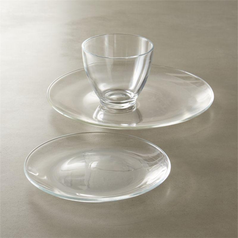 bari glass dinnerware - Modern Dinnerware