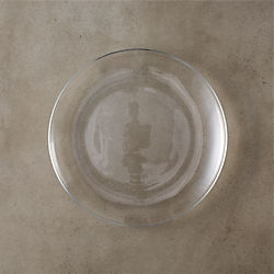 bari glass salad plate
