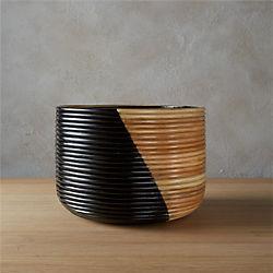 basket large black planter