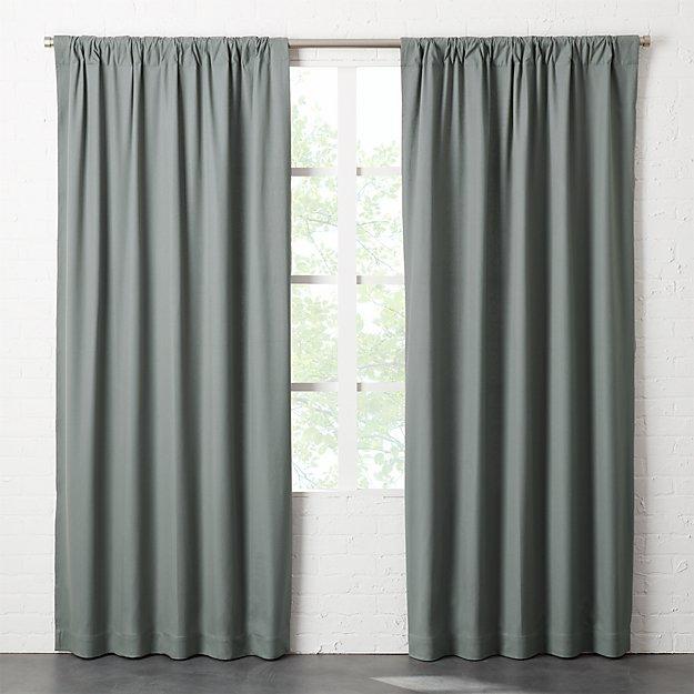 Graphite Grey Basketweave II Curtain Panel