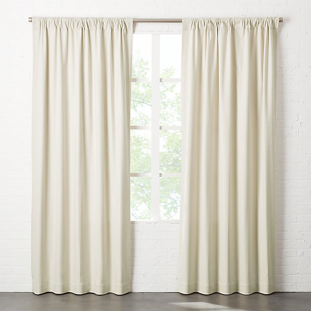Natural Tan Basketweave II Curtain Panel