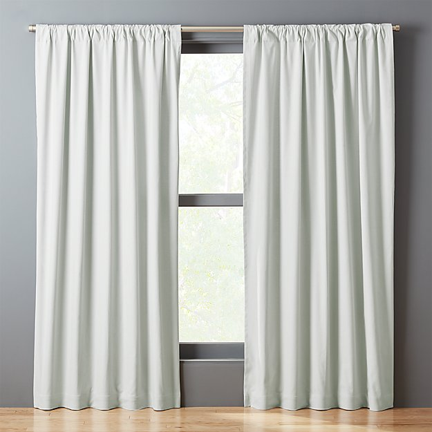 Silver Grey Basketweave II Curtain Panel
