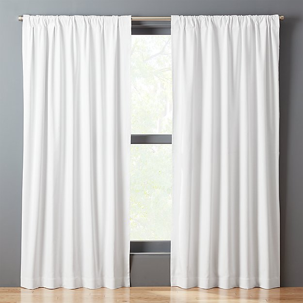 White Basketweave II Curtain Panel
