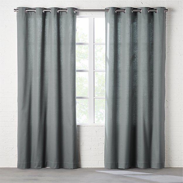 basketweave graphite curtain panel