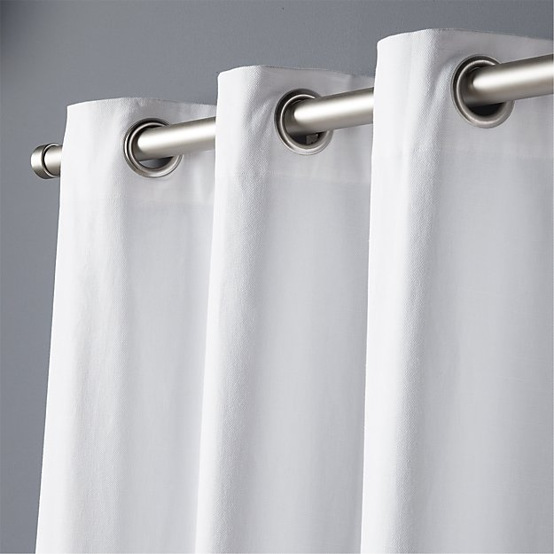 "basketweave white curtain panel 48""x108"""