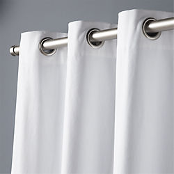 "basketweave white curtain panel 48""x84"""