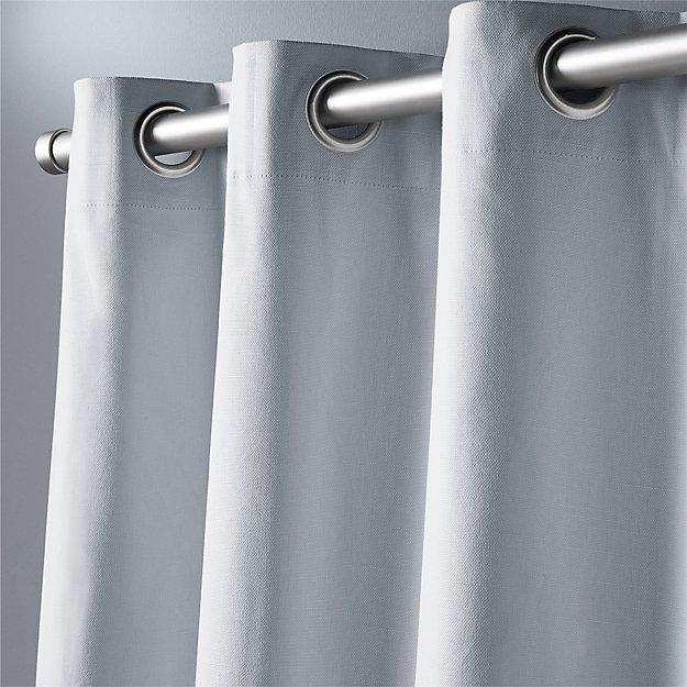 "basketweave silver grey curtain panel 48""x96"""