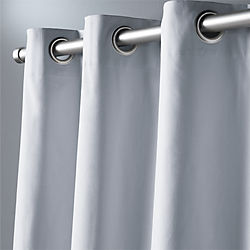 "basketweave silver grey curtain panel 48""x84"""