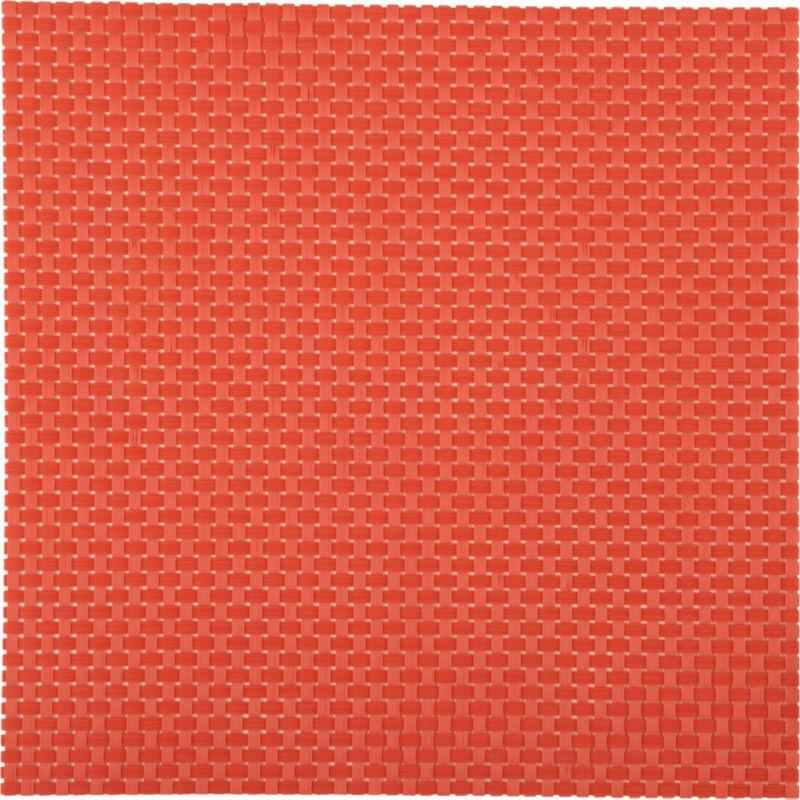 basketweave hot orange placemat