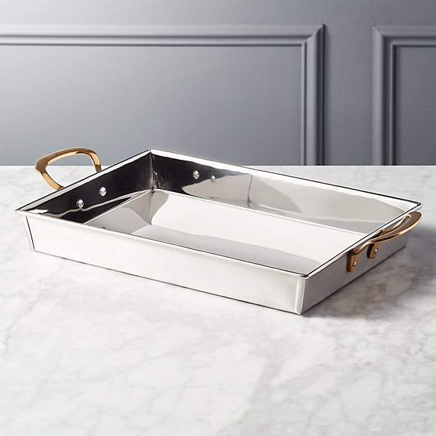Bates Stainless Steel Serving Tray