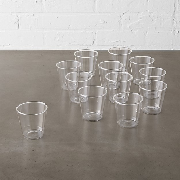 set of 12 beaker glass tea light candle holders