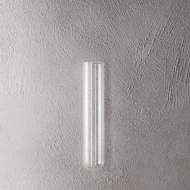 """beaker glass tube 8"""" wall vase"""