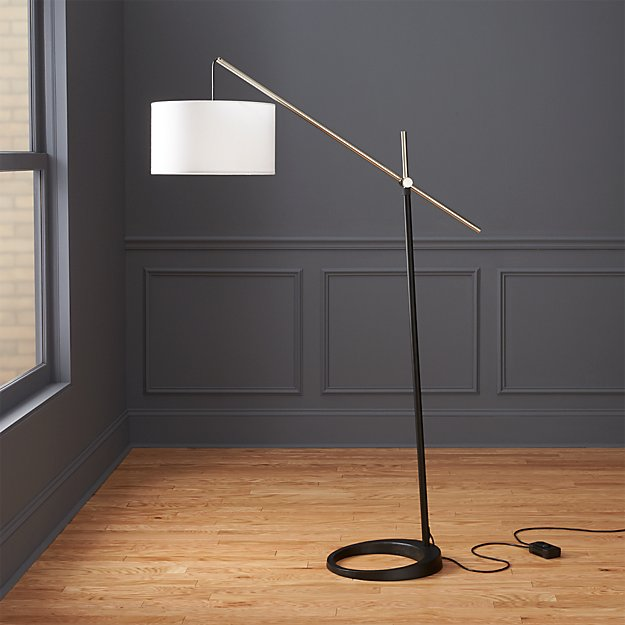 beam floor lamp reviews cb2. Black Bedroom Furniture Sets. Home Design Ideas