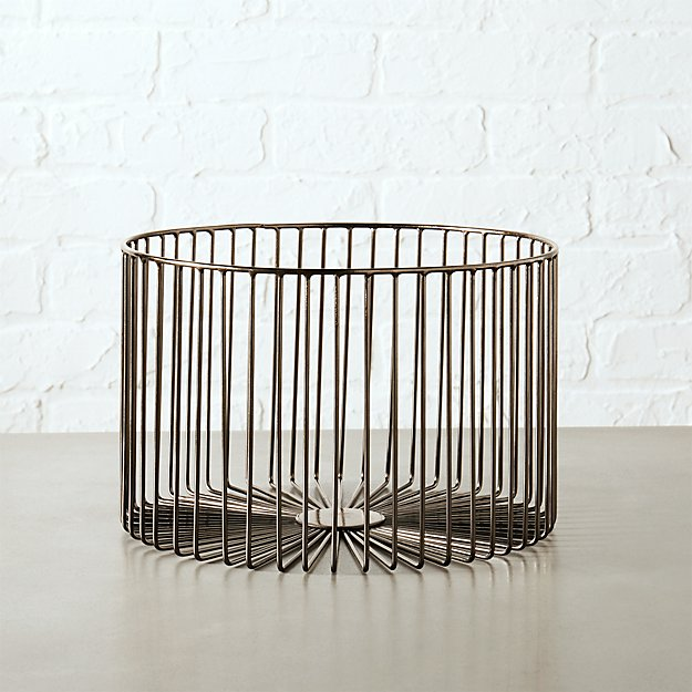 beam small gunmetal basket