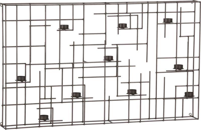 beam wall candleholder