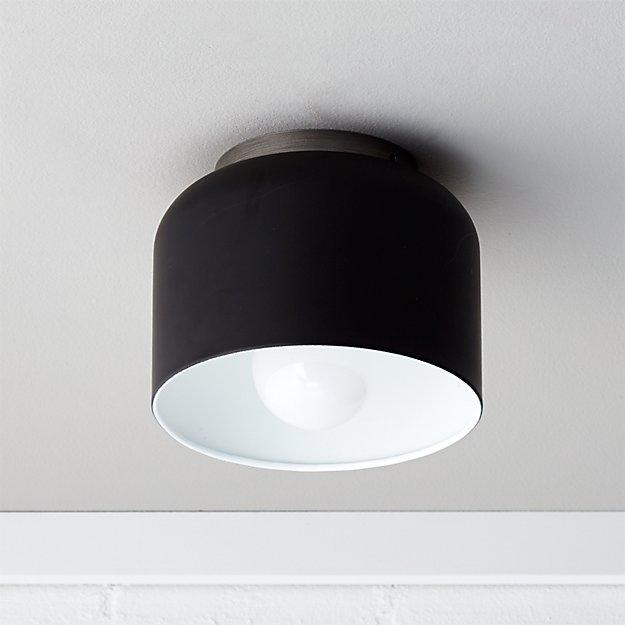 Black Lamp bell black flush mount lamp | cb2
