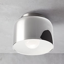 bell chrome flush mount lamp