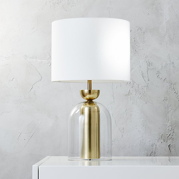 bell jar table lamp