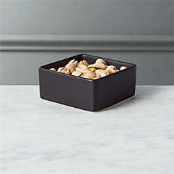 bento matte black mini bowl