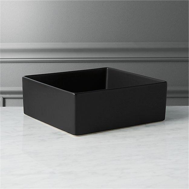 Bento Black Square Bowl Reviews Cb2