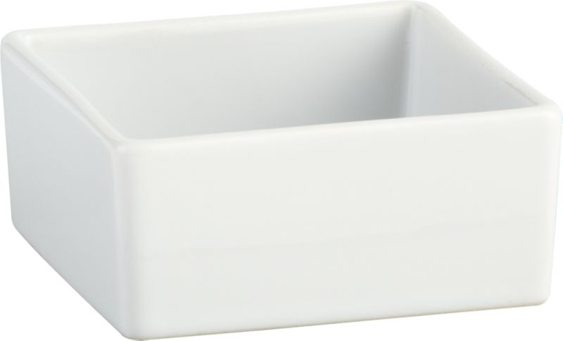 """<span class=""""copyHeader"""">square meal.</span> Go-to, go with everything dinnerware turns a corner in smart white stoneware. Deep square bowls think outside the box.<br /><br /><NEWTAG/><ul><li>Durable glazed stoneware</li><li>Dishwasher- and microwave-safe</li></ul>"""