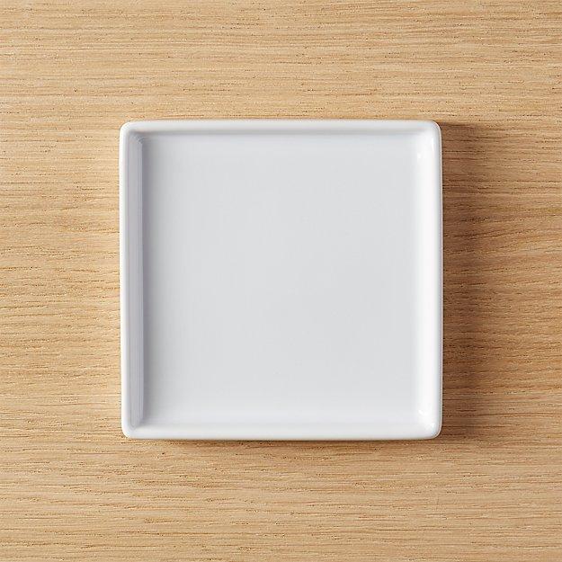 Bento Small Square Plate Set Of 8 Reviews Cb2