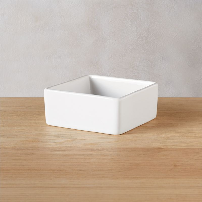 "<span class=""copyHeader"">square meal.</span> Go-to, go with everything dinnerware turns a corner in smart white stoneware. Deep square bowls think outside the box.<br /><br />For tips on serving mezcal at your next party, head to <a rel=""external""href=""/blog/mezcal-101/"">Idea Central</a>.<br /><br /><NEWTAG/><ul><li>Durable glazed stoneware</li><li>Dishwasher- and microwave-safe; oven-safe at 350-degrees for no more than two hours</li></ul>"
