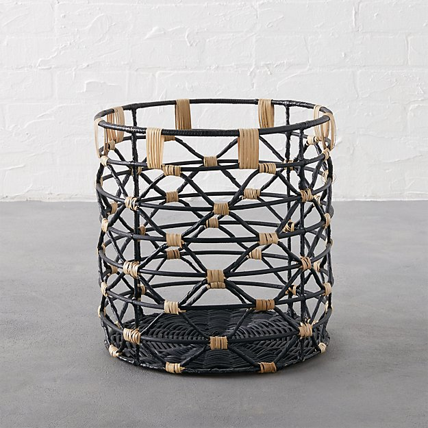 beso small black basket