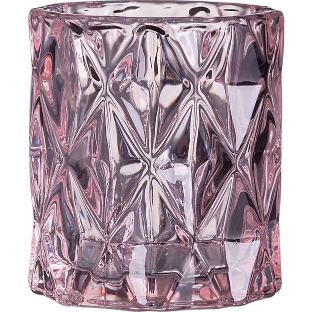 betty pink tea light candle holder
