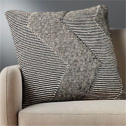"23"" bias pillow with down-alternative insert"