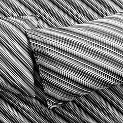 set of 2 bias black and white standard pillowcases