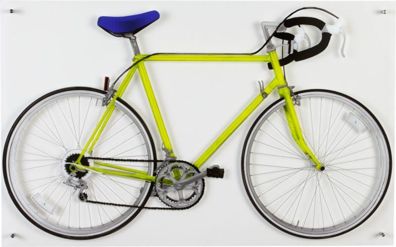 bicycle yellow acrylic print