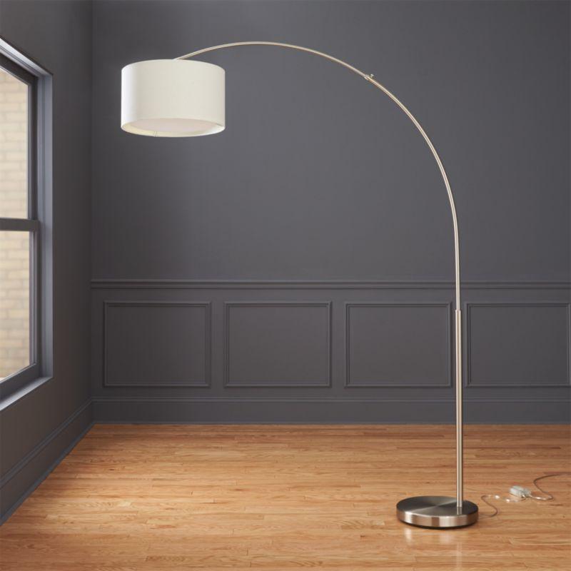 Big Dipper Silver Arc Floor Lamp | CB2