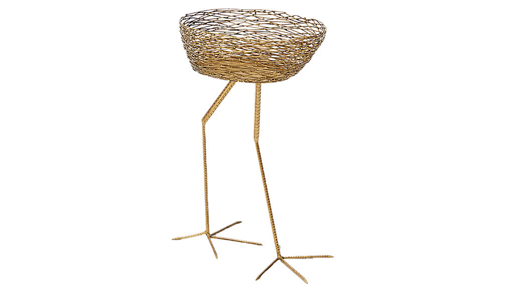 bird basket side table
