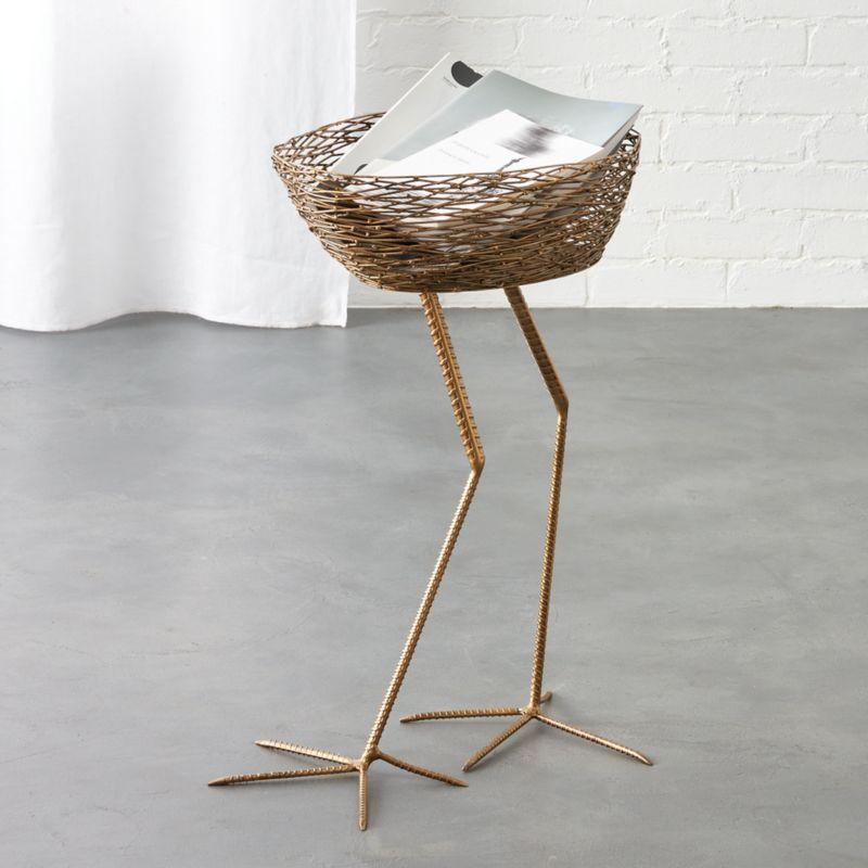 Amazing Bird Basket Side Table | CB2