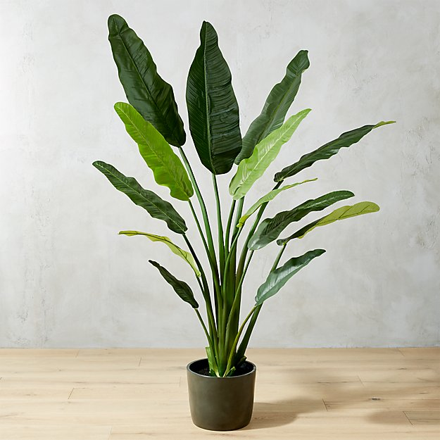 Faux 70 Quot Potted Bird Of Paradise Reviews Cb2