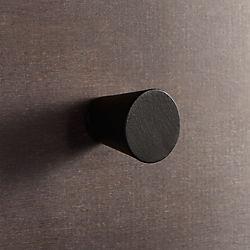 aluminum black knob