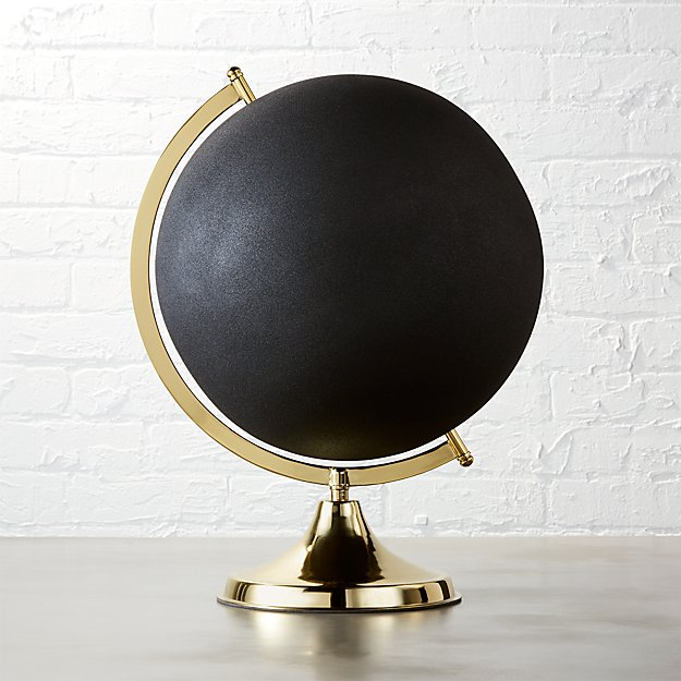 black and brass globe