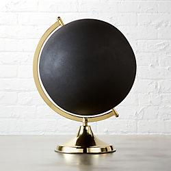black and brass globe