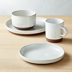 Black Clay 4-Piece Place Setting